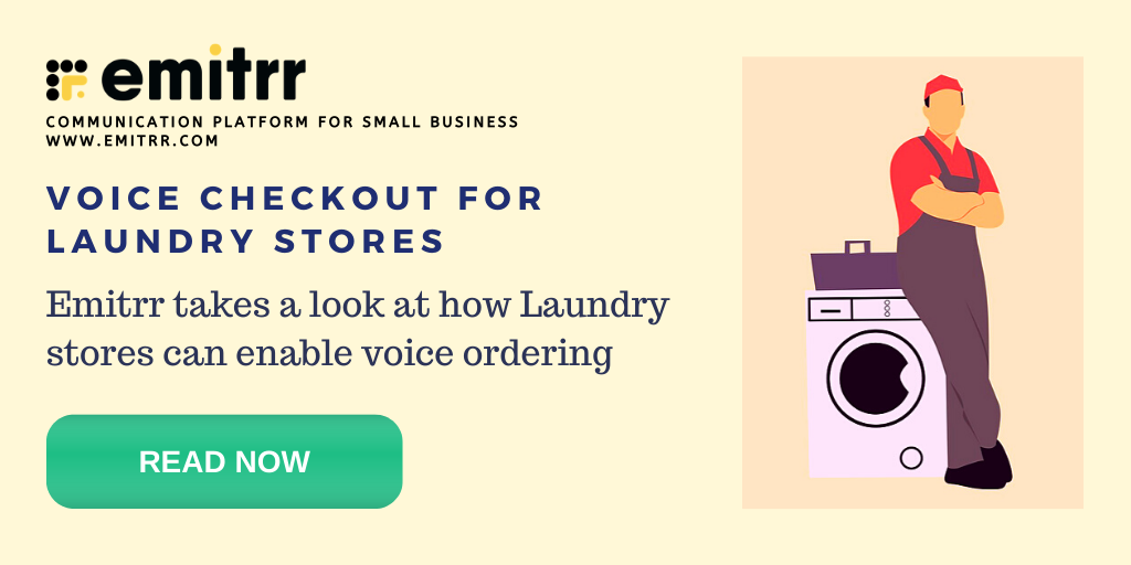Voice checkout for your laundry
