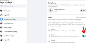How to enable reviews on Facebook